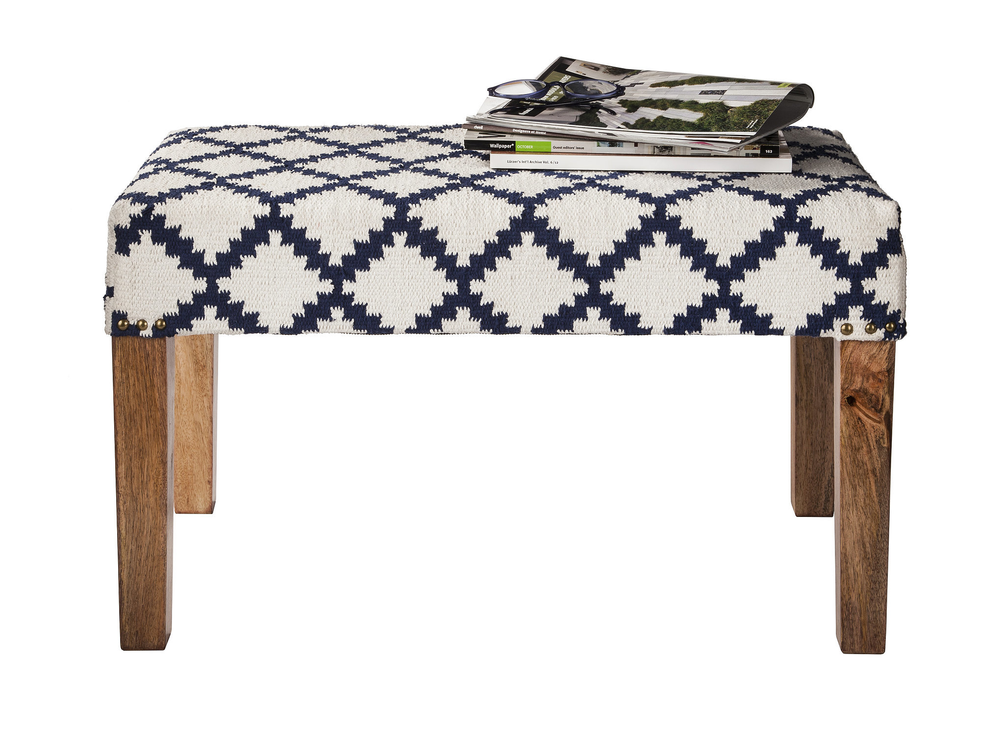 This petite bench ($100) works well for an entryway or an unused corner.