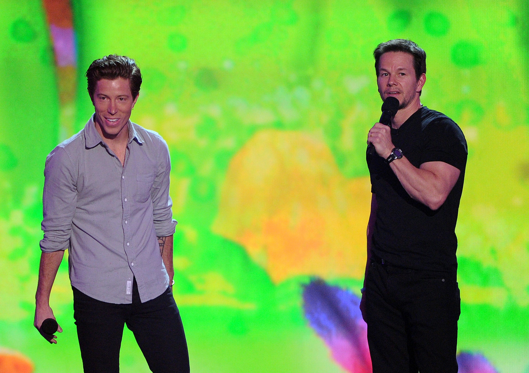 Shaun White took center stage with Mark Wahlberg.