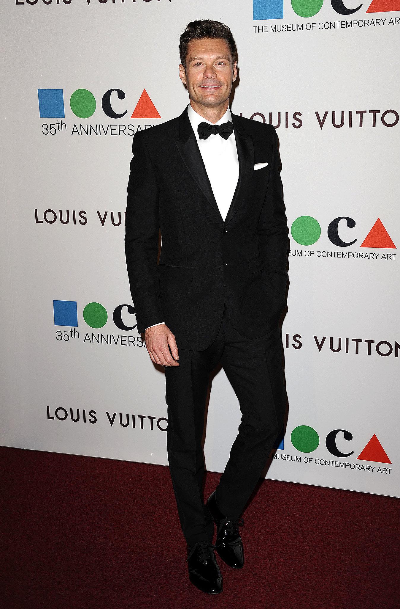 Ryan Seacrest looked dapper in a tux.