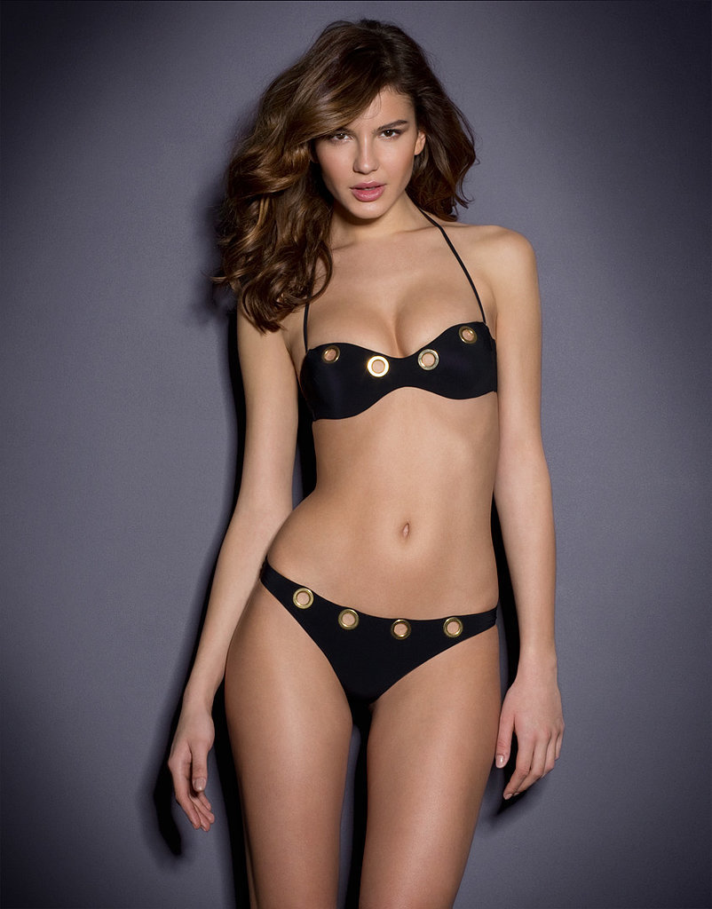 agent provocateur tricja bikini top 245 and bottoms 250 with detachable chain detail. Black Bedroom Furniture Sets. Home Design Ideas