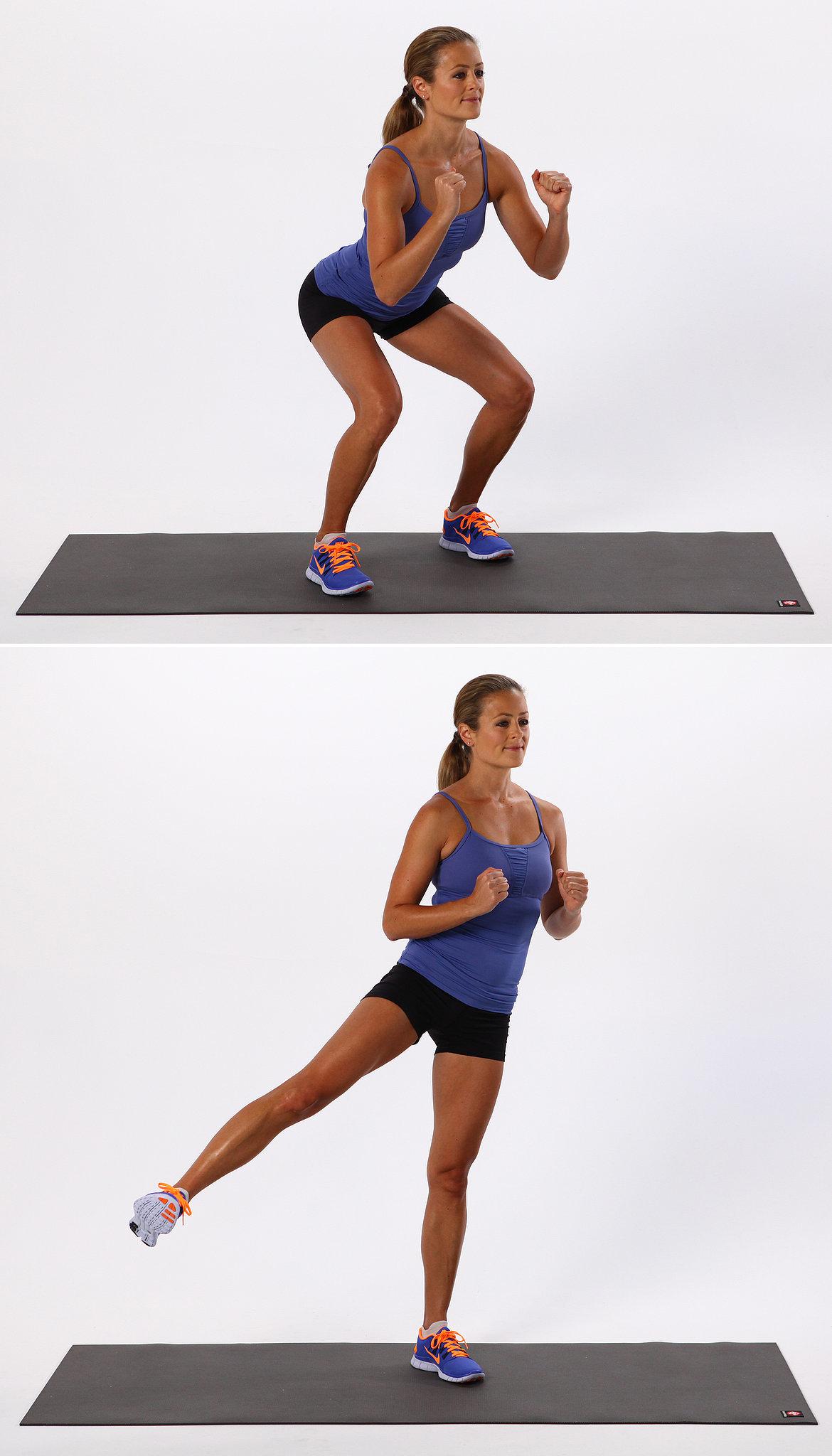 Exercise 1: Basic Squat With Side Leg Lift