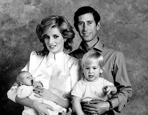 This Wales family photo once again employed the studio look of the time and caught the little ones in motion.  Source: Photo courtesy of The British Monarchy