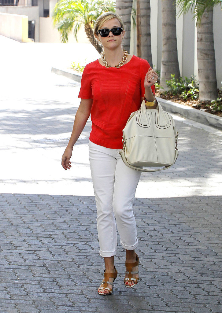 Reese Witherspoon in Snakeskin Pedro García Sandals