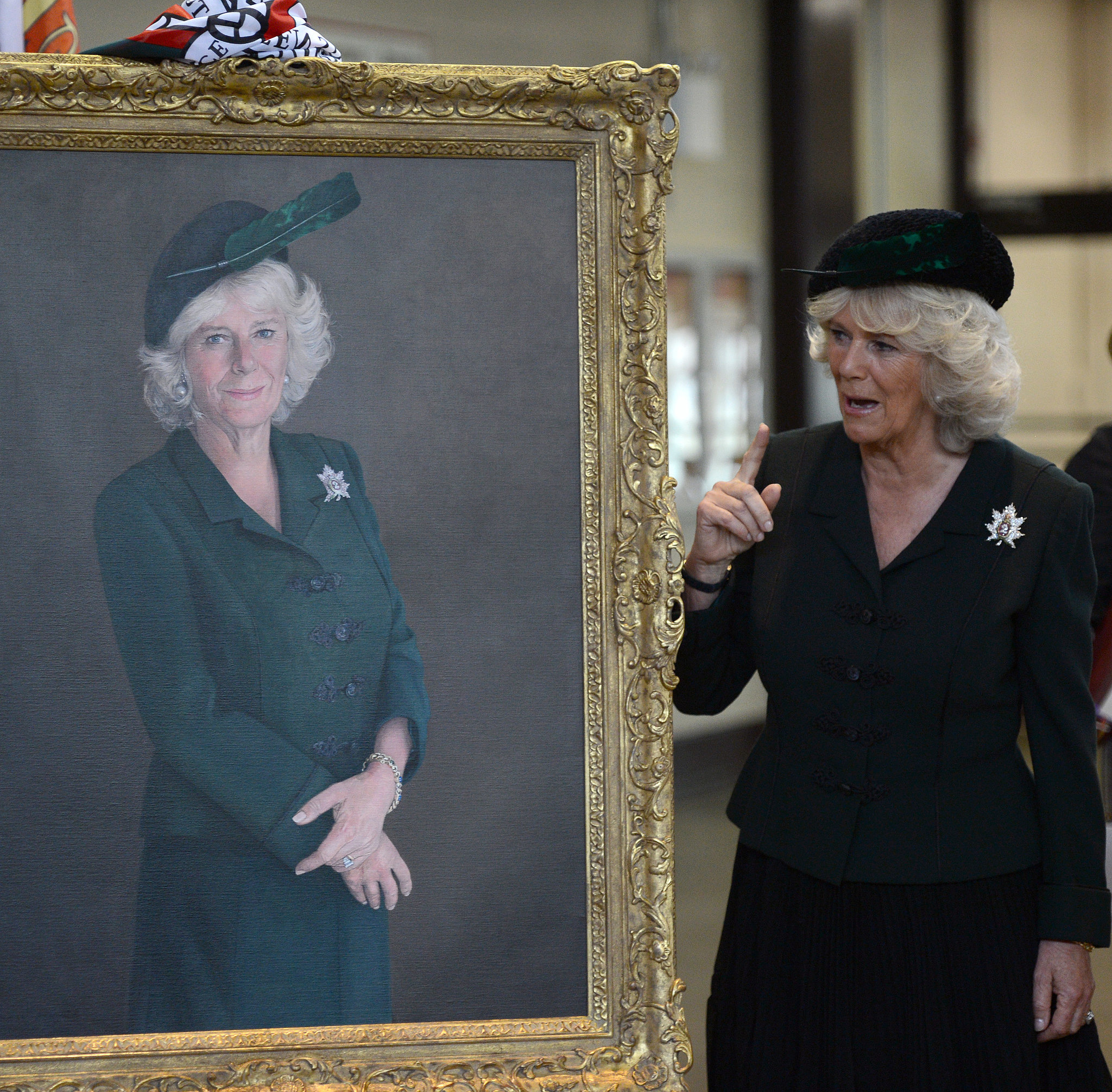 Camilla, the Duchess of Cornwall, unveiled a portrait of herself while on tour in Canada. She was even wearing the same ensemble!