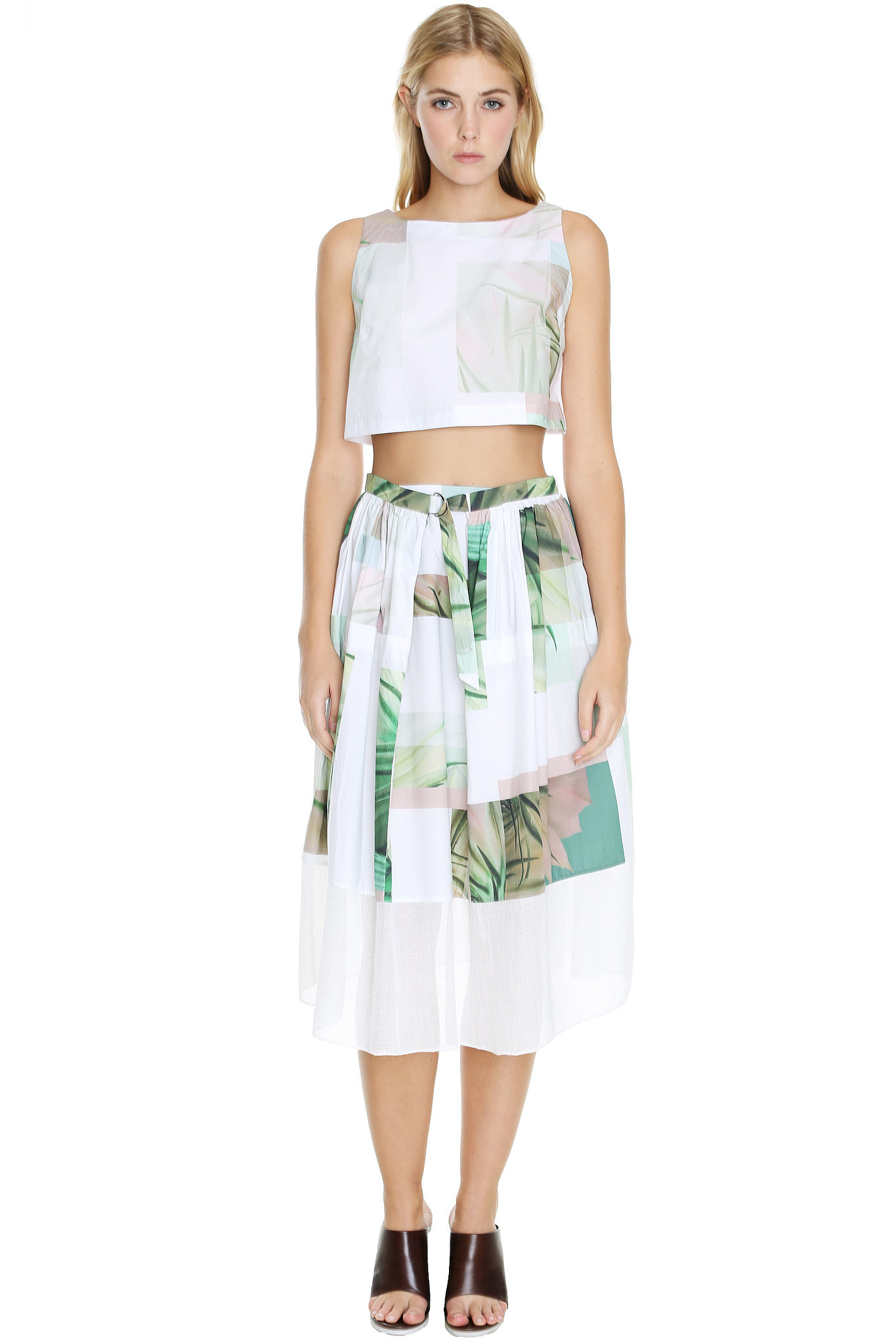 Midi skirt and crop top set – Modern skirts blog for you