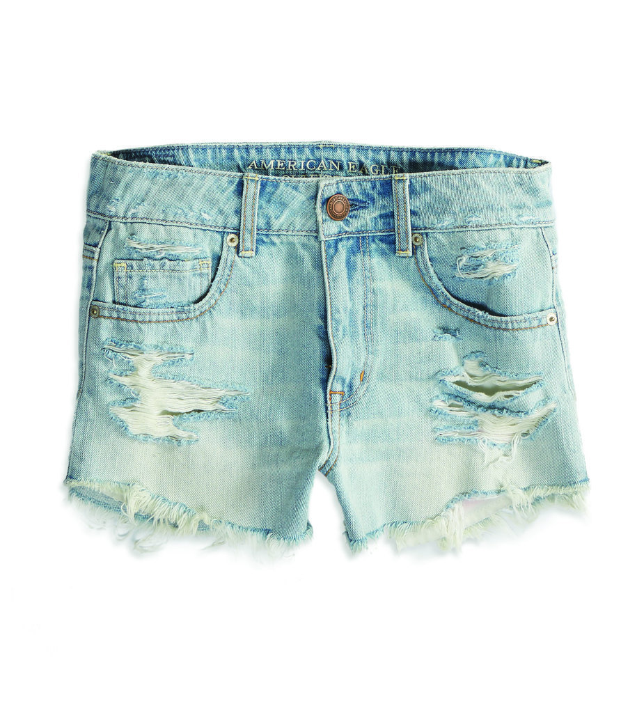 American Eagle High-Rise Festival Shortie Denim Cutoffs