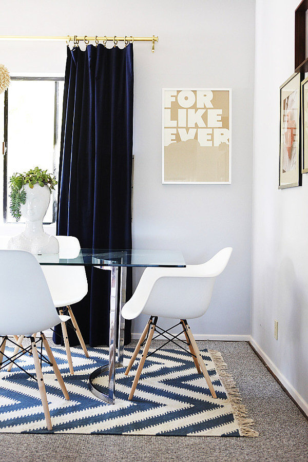 It will take you forever to furnish your place (i.e., buying one piece a month because it's so expensive) — and that's totally OK. You don't even have to have a fully furnished place to throw a killer housewarming party.  — Lisette Mejia, assistant editor Source: Emily Henderson