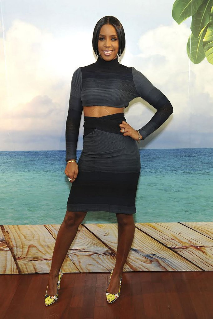 Kelly Rowland strikes a pose at the launch event for the new Caress Fresh Collection body washes in NYC. Source: Michael Simon