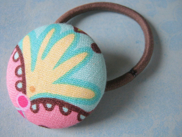 Button Ponytail Holders