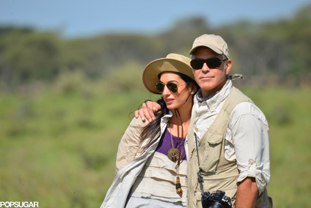 George showed PDA with Amal during their March 2014 safari in Tanzania.