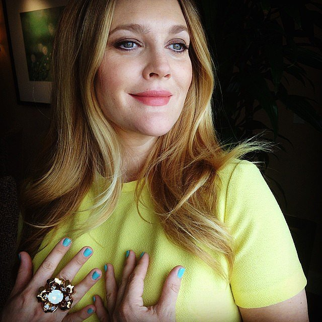 Drew Barrymore showed off her Spring look. Source: Instagram user drewbarrymore