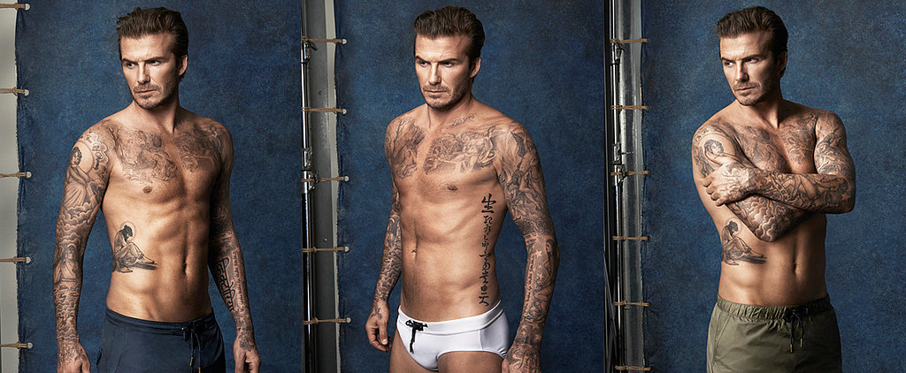 David Beckham Is Sexy and Shirtless in His New H&M Campaign