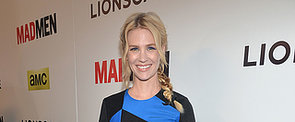 See Every Angle of January Jones' Multi-Braid and Blue Cat Eye