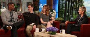 Watch Ellen Hilariously Grill Andrew and Emma About Their Chemistry