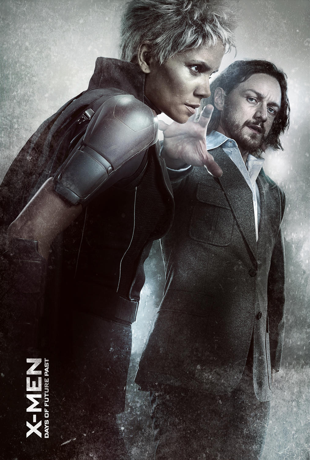 Halle Berry as Storm and James McAvoy as Charles Xavier ...