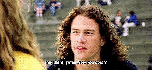 Playing bad-boy-turned-romantic Patrick Vernon in 10 Things I Hate About You.