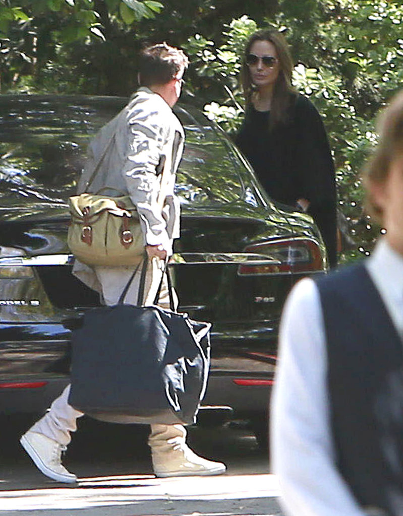 Angie and Brad Leave Separately After a Weekend Getaway