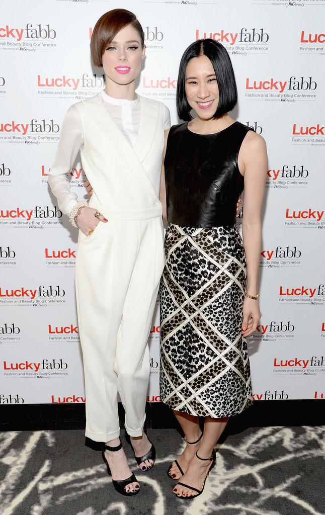 Coco Rocha and Eva Chen