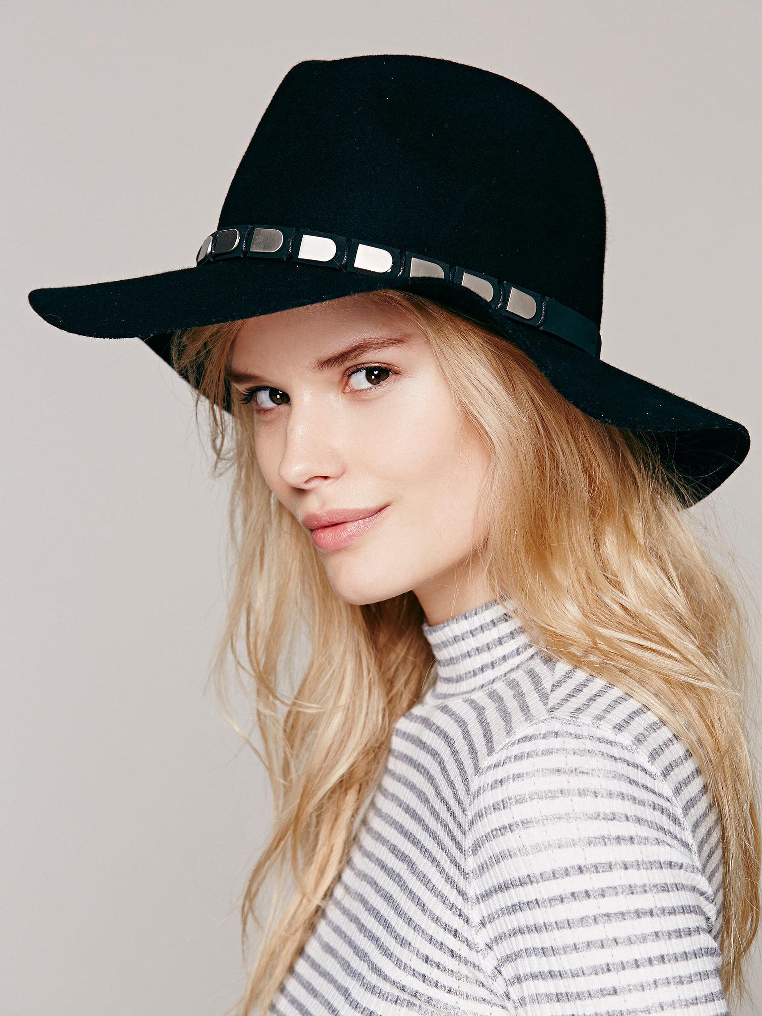 Free People Embellished-Band Black Hat