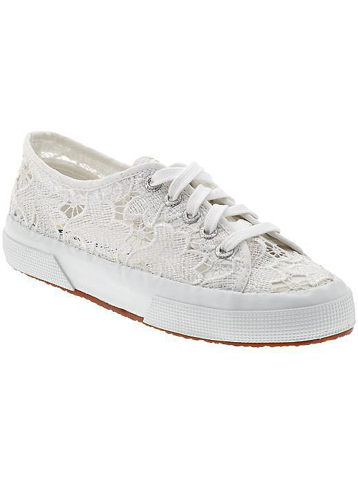 Superga White Lace Sneakers