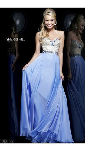 2014 Charm Blue Prom Dress Sherri Hill 1923