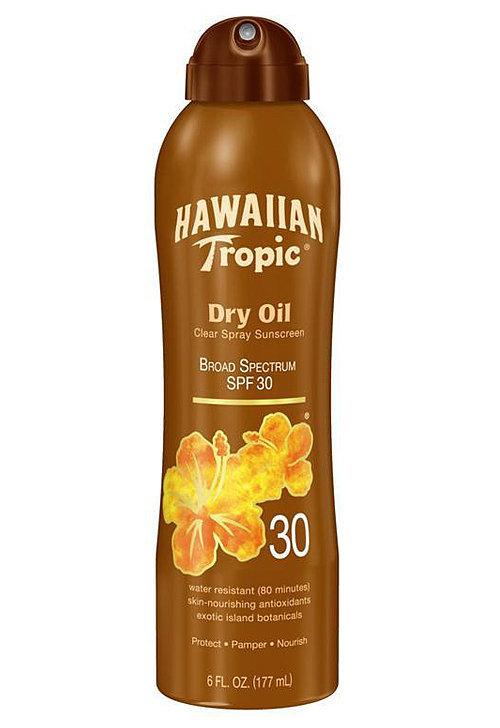 Hawaiian Tropic Protective Dry Oil Clear Spray Sunscreen