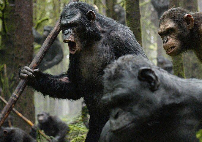 Andy Serkis plays Caesar.