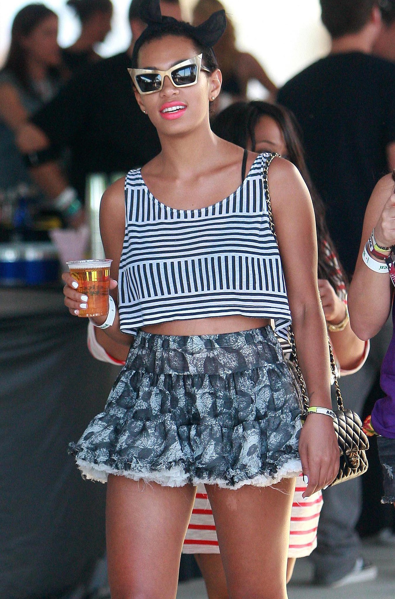 Solange Knowles picked up a cold beverage in 2010.