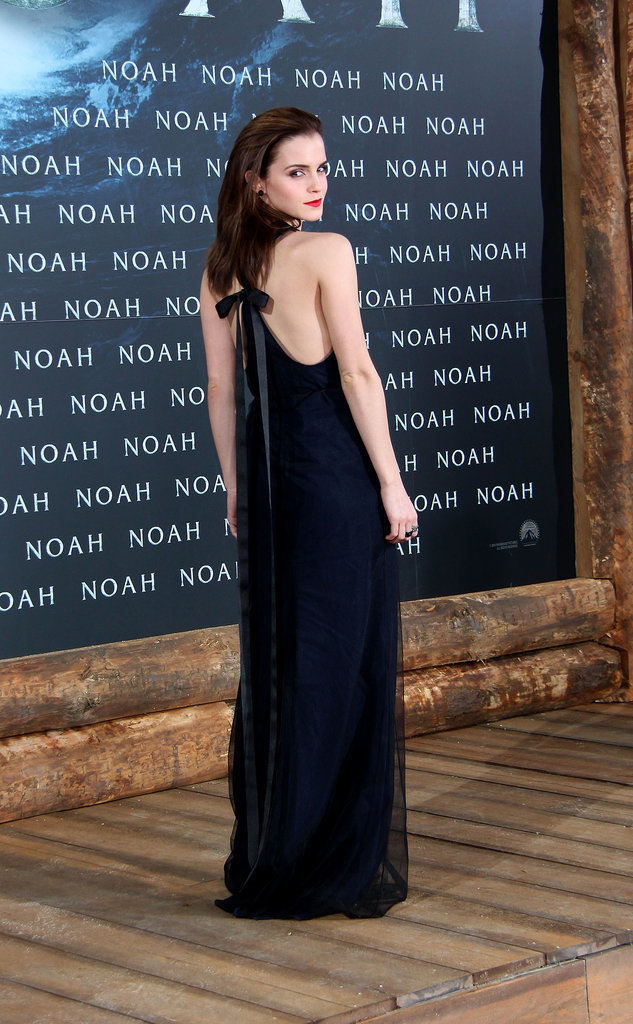Emma Watson in Wes Gordon at 2014 Noah Germany Premiere