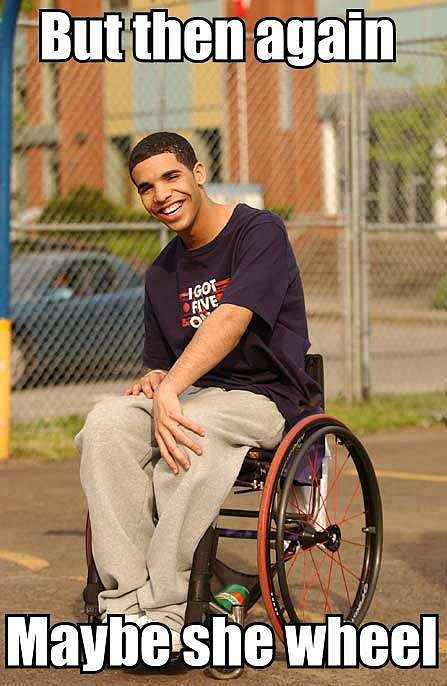 """Drake's Degrassi Character, """"Wheelchair Jimmy"""""""