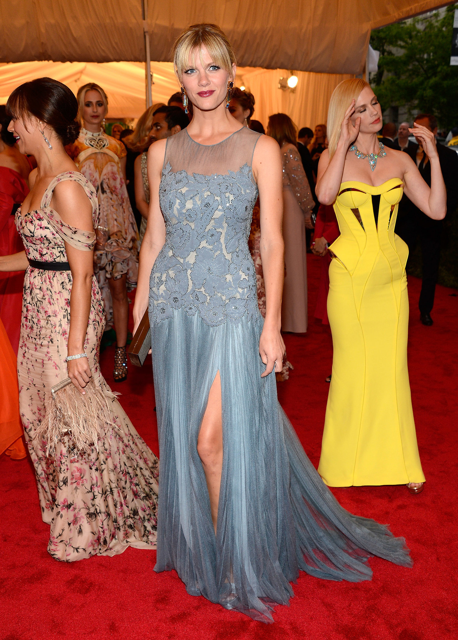 Brooklyn Decker in Light Blue Tory Burch at 2012 Met Gala