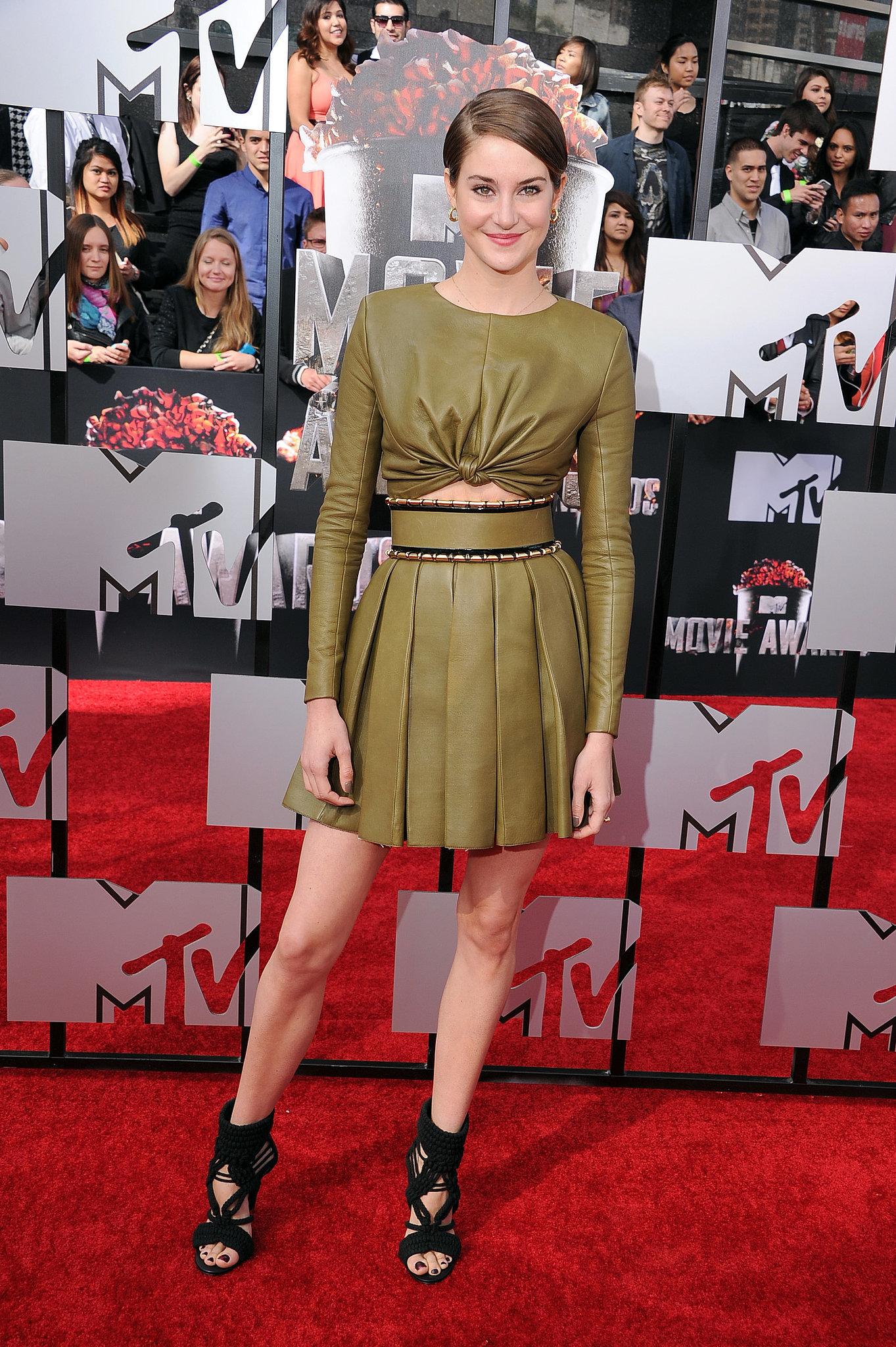 Shailene Woodley at the 2014 MTV Movie Awards