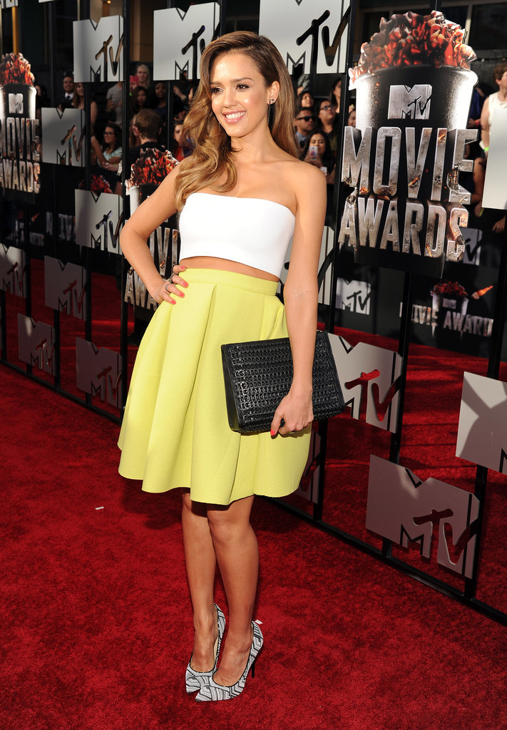 Jessica Alba at the MTV Movie Awards 2014 | POPSUGAR Celebrity