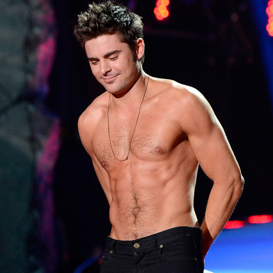 Zac Efron Shirtless at 2014 MTV Movie Awards
