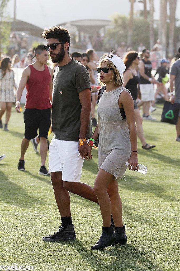 Zoe Kravitz held hands with her boyfriend, Noah Becker.