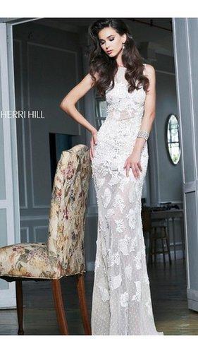 Designer Sherri Hill 11127 White Prom DressOutlet
