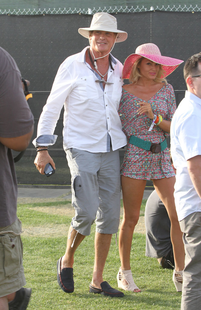 David Hasselhoff made an appearance with girlfriend Hayley Roberts.