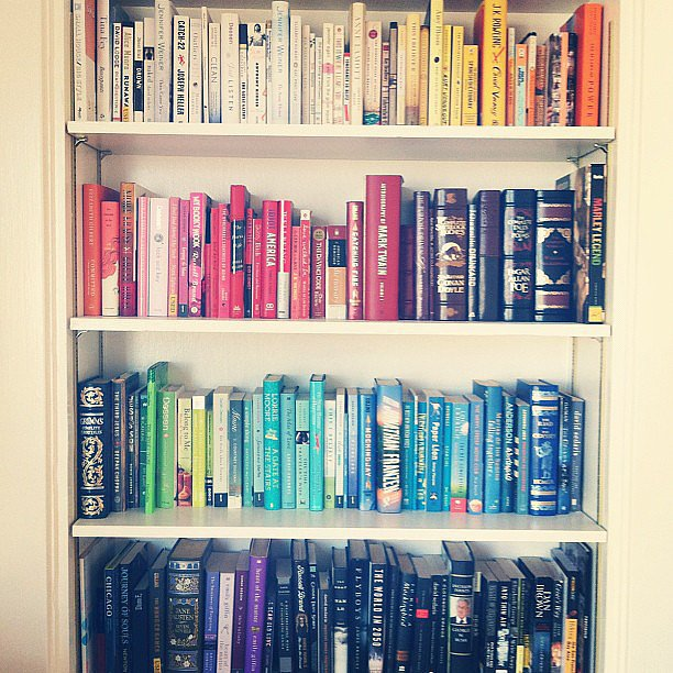 Your second-favorite activity after reading is organizing your bookshelves.