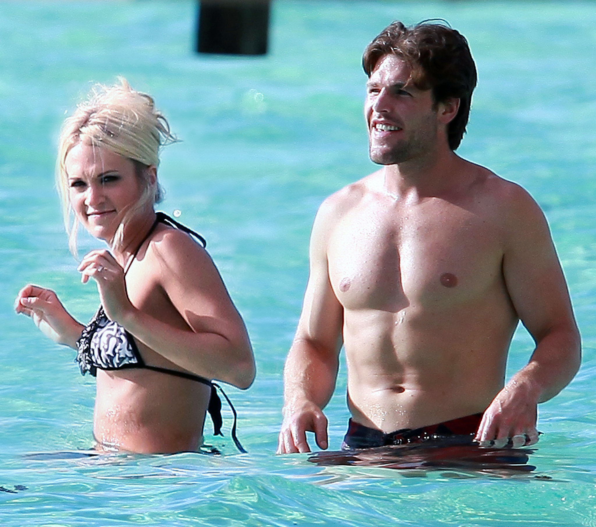 Carrie Underwood and Mike Fisher enjoyed the bright blue waters of Tahiti for their 2010 honeymoon.