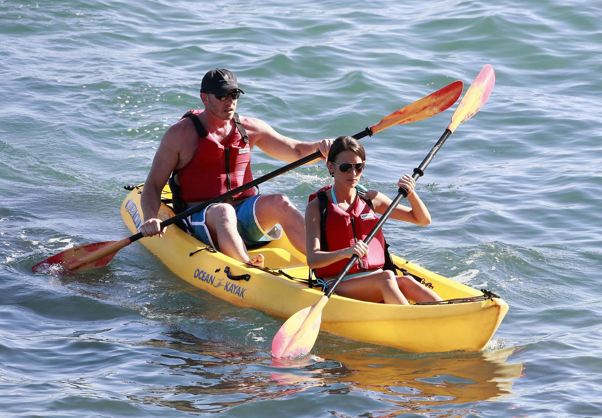Ian Ziering and Erin Ludwig went kayaking in Newport Beach after tying the knot there in May 2010.