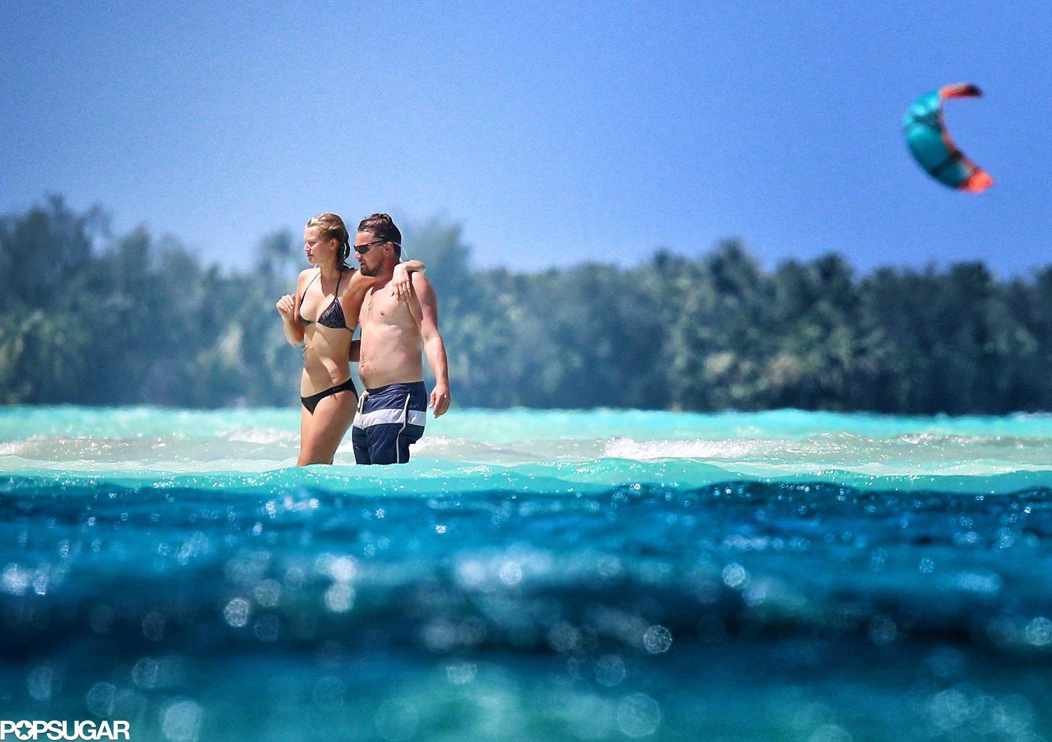 Shirtless Leonardo DiCaprio Shows Toni Garrn Love in Bora Bora