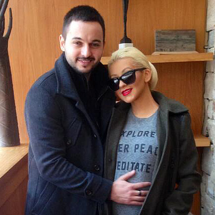 Pictures Of Christina Aguilera's Baby Bump