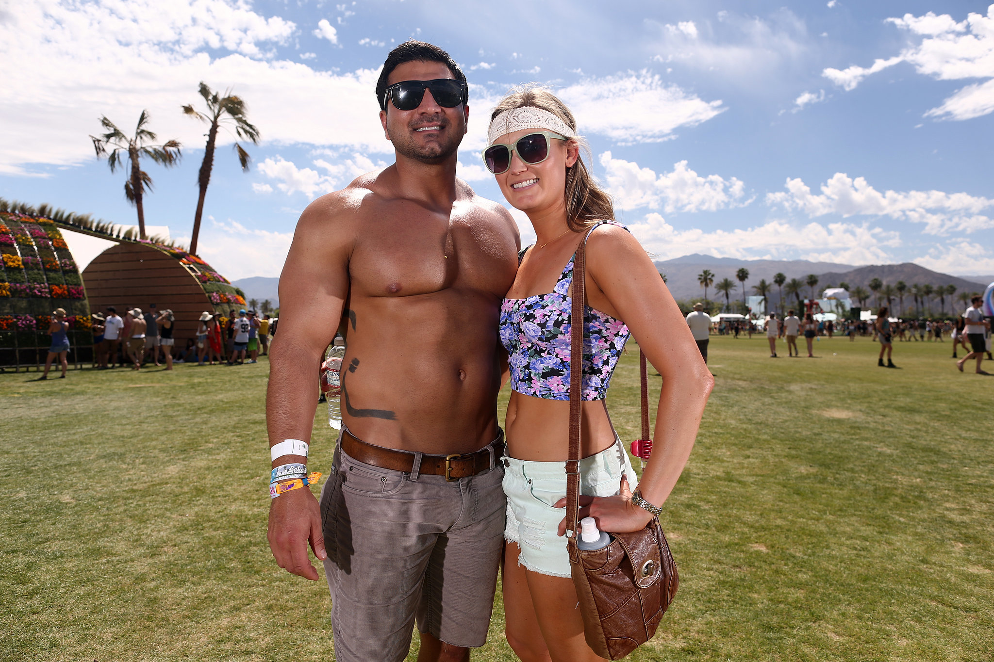 A pair posed at Coachella in 2014