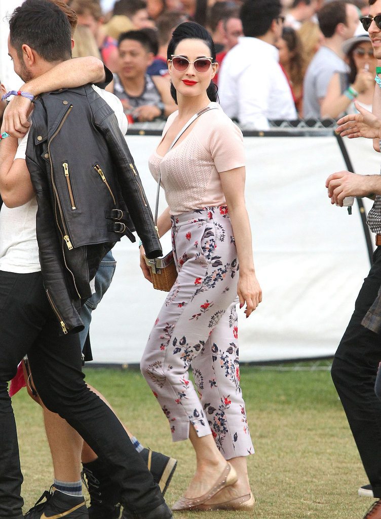 Dita Von Teese made a fashionable appearance.