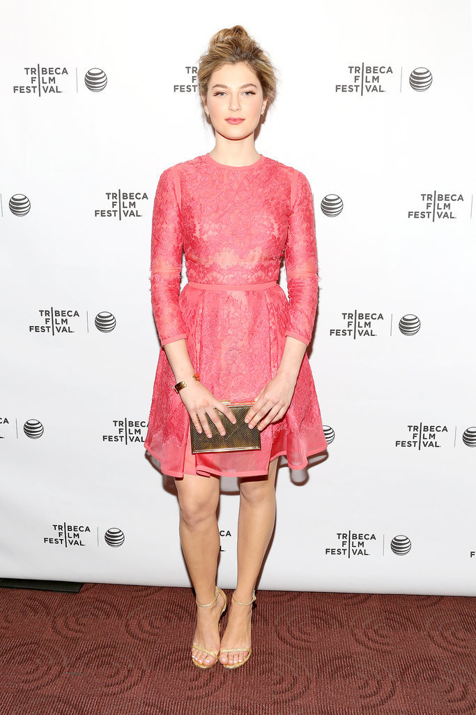 Zoe Levin in Pink at the Tribeca Film Festival