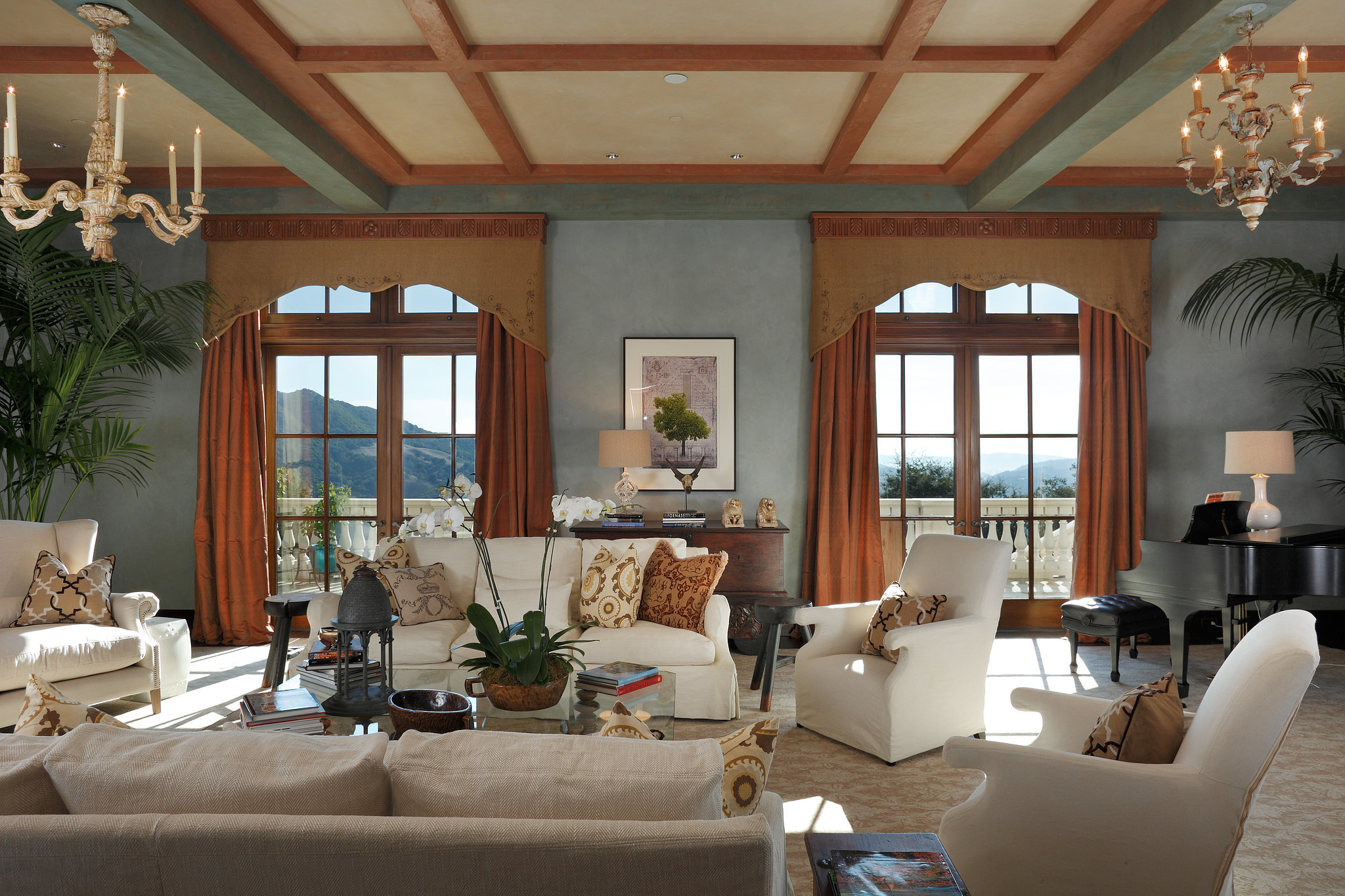Who needs art when you have giant windows framing the picturesque landscape?  Image Source: Property listing by Joyce Rey and Cyd Greer for Coldwell Bankers Previews International