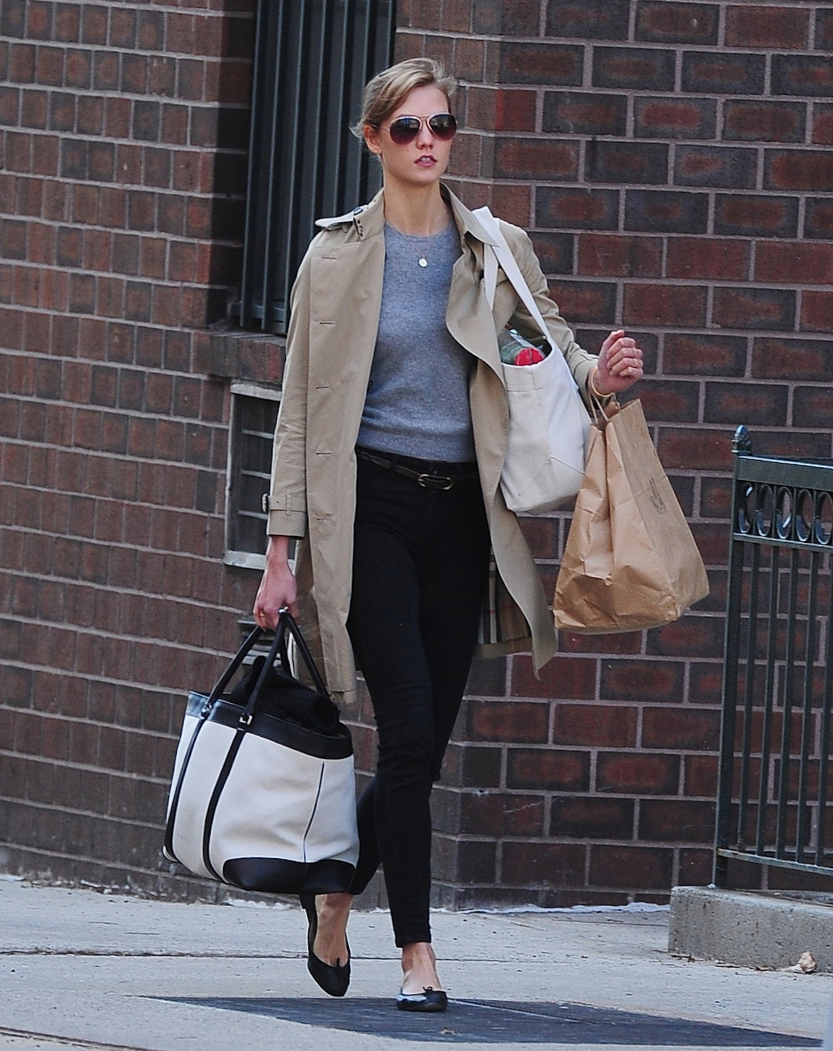 Karlie Kloss in Cropped Jeans and Ballet Flats (Again)