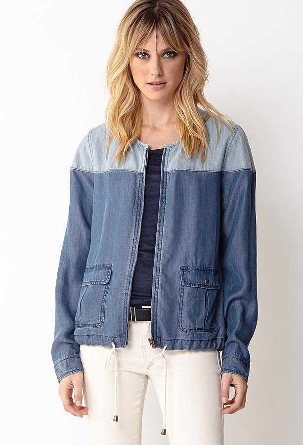Forever 21 Chambray Colorblock Jacket