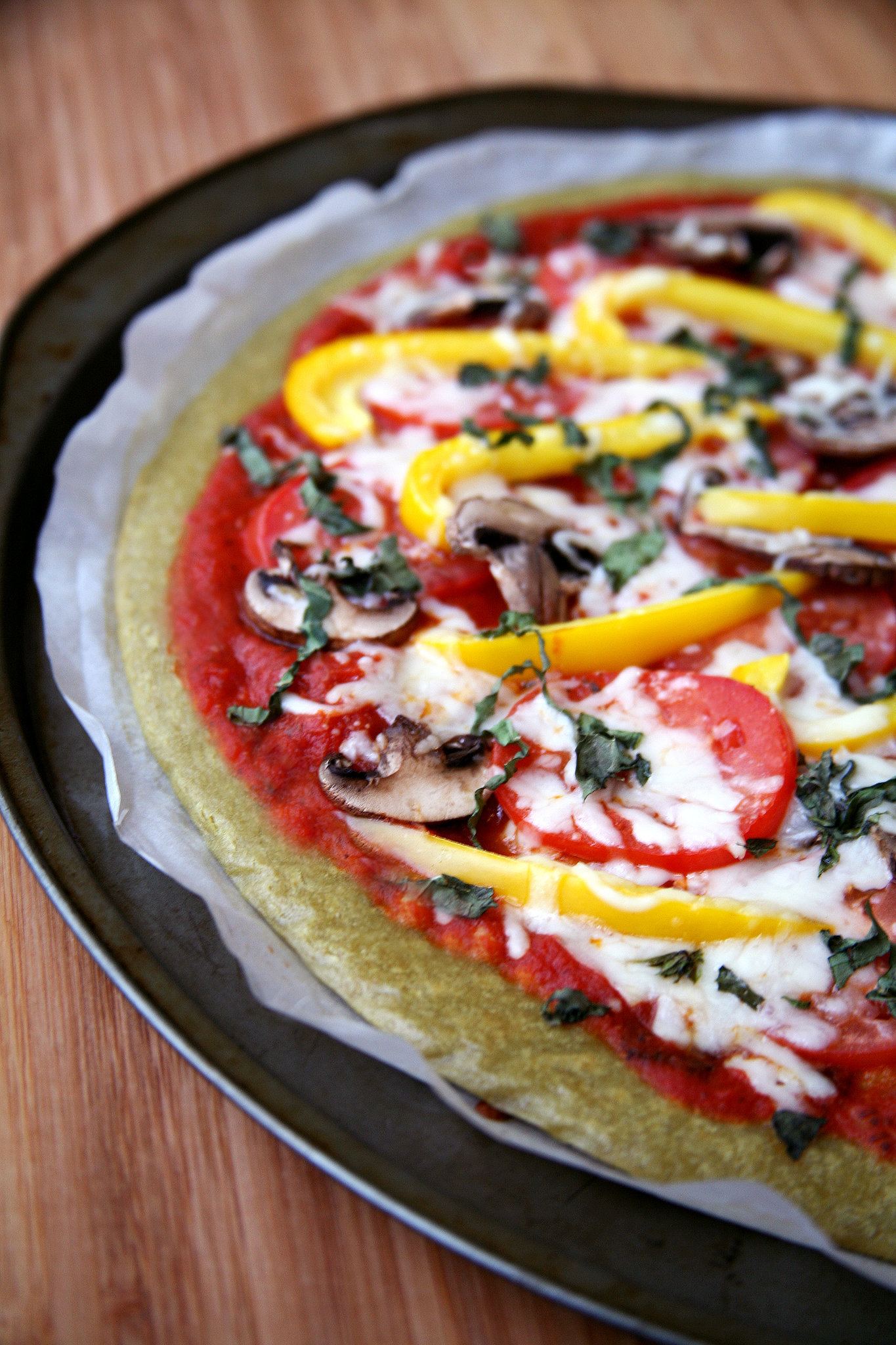 Saturday: Quinoa Basil Pizza