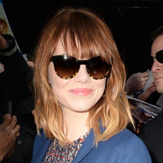 Emma Stone Bangs 2014